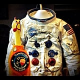 """Astronaut Borman's suit. He flew on Apollo 8 around the Moon; 1st humans to travel around the Moon."" Source: Instagram user camillasdo"