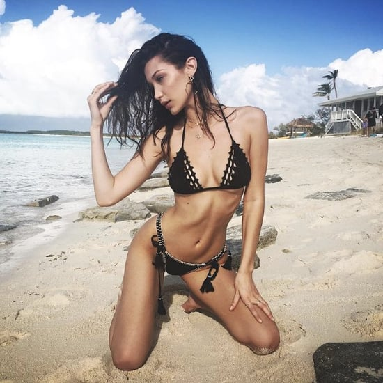Bella Hadid Crochet Bikini Dec. 2016