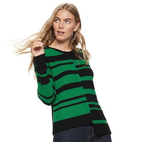 Nine West Asymmetrical Hem Sweater