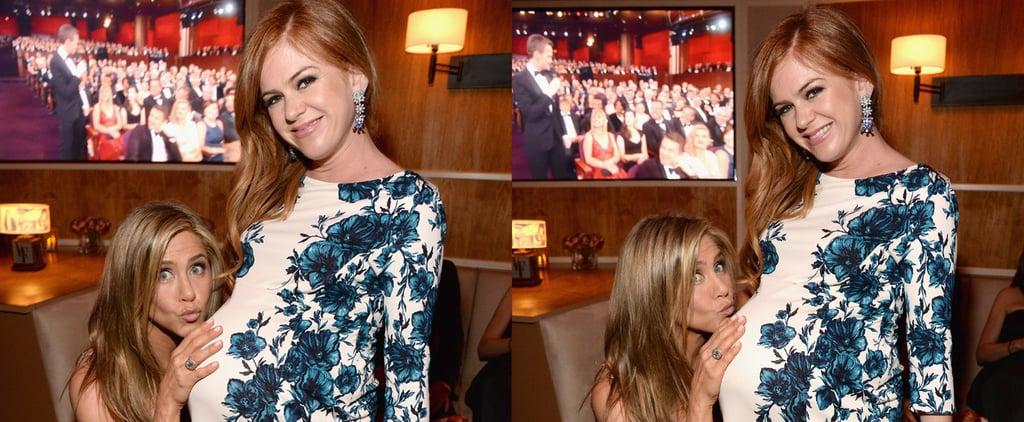 Jennifer Aniston Had a Ball With Isla Fisher's Baby Bump