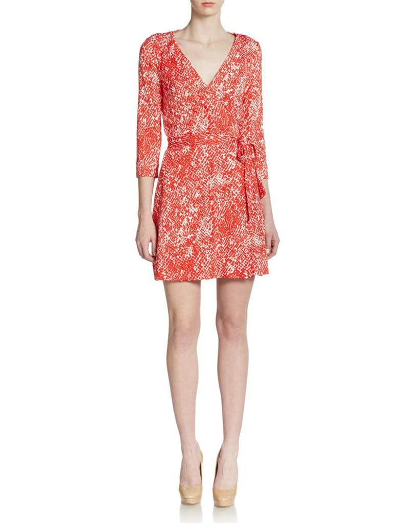 DVF New Julian Two Printed Wrap Dress ($398)