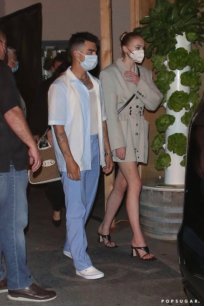 Sophie Turner's Blazer Dress For Dinner With Jonas Brothers