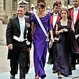 نسّقت أزيائها مع الملكة رانيا عندما ارتدتا تدرجات اللون الأرجواني