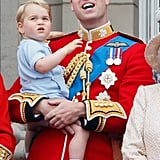 Will and George were twin spectators at Trooping the Colour in 2015.