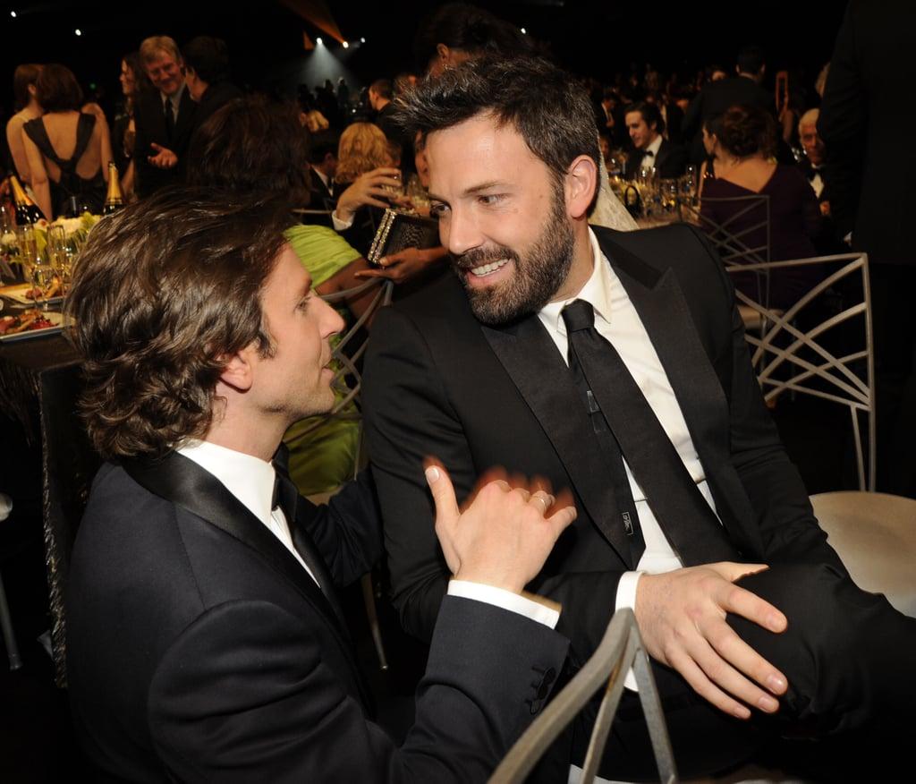 Bradley Cooper visited Ben Affleck's table at the SAG Awards.