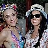 Katy Perry and Julianne Hough Party Poolside on Day One of Coachella