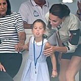 Prince George and Princess Charlotte at King's Cup Race 2019