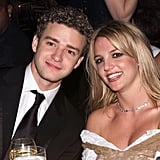 Justin Timberlake and Britney Spears were seated together in 2002.