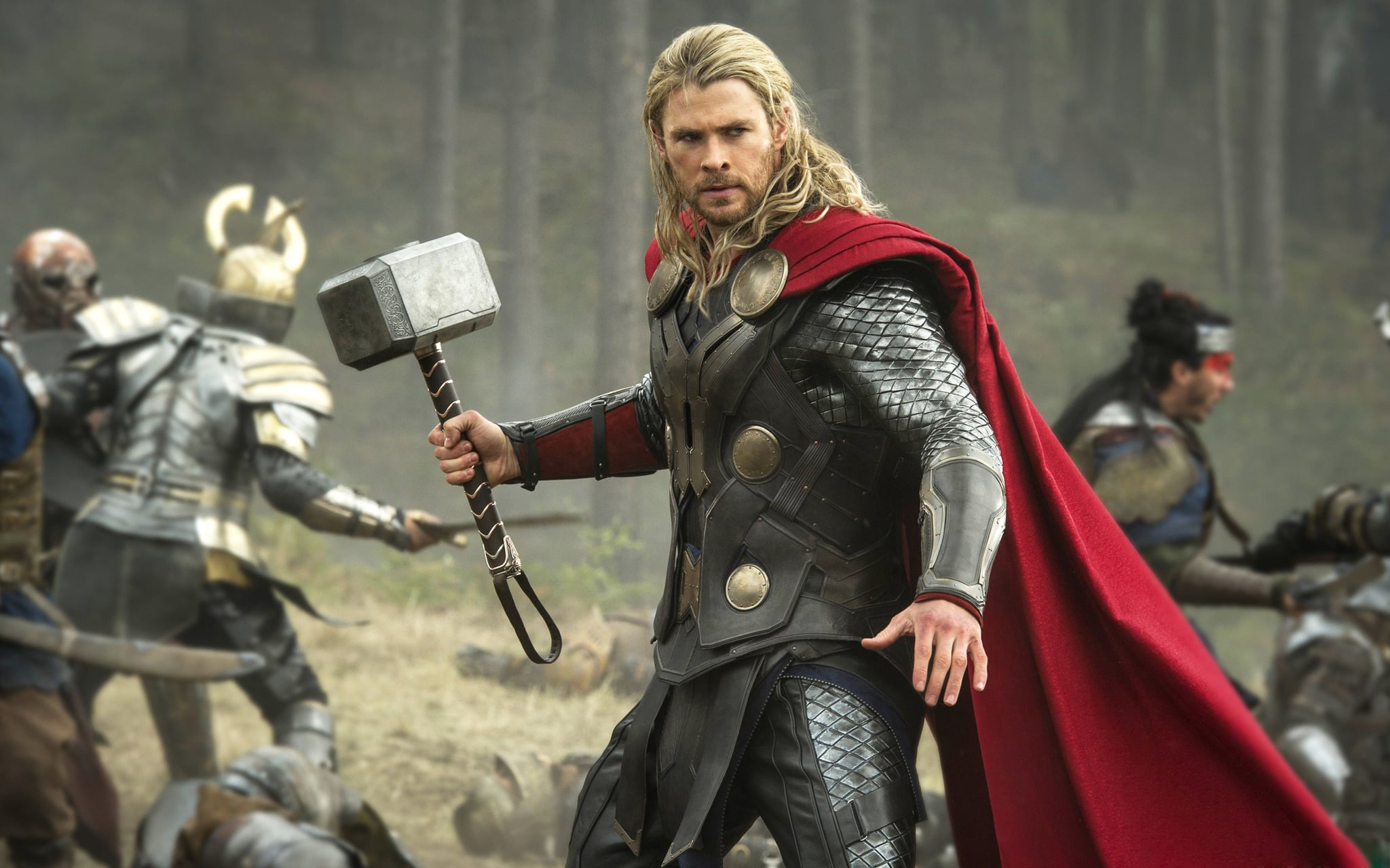 Thor: The Dark World  What it's about: After the events of The Avengers, Thor (Chris Hemsworth) realizes Jane's (Natalie Portman) life is in danger. He takes her up to his home planet, where he must enlist the help of the evil Loki (Tom Hiddleston) to defeat a new enemy. Why we're interested: We just can't get enough of Thor, plus have you seen Jane slapping Loki yet? It's amazing. When it opens: Nov. 8 Watch the trailer for Thor: The Dark World.