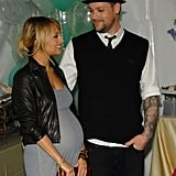 Pregnant Nicole Richie and Joel Madden attended the launch of The Richie Madden Children's Foundation in LA in December 2007.