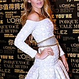 Blake Lively posed in a Balmain dress while being announced as the new face of L'Oréal Paris.