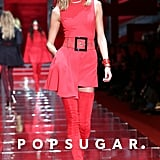 Karlie Kloss owned the runway during the Versace show at Milan Fashion Week on Friday.