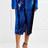 Sally LaPointe Sequined Tulle Midi Skirt