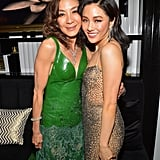 Crazy Rich Asians costars Michelle Yeoh and Constance Wu posed together in 2019.
