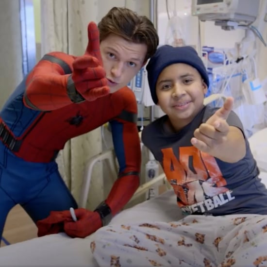 Tom Holland Visiting Kids in the Hospital as Spider-Man 2017