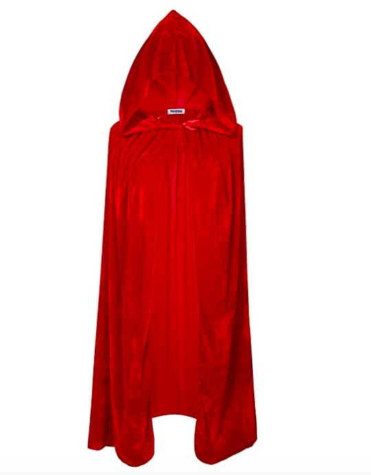 VGLOOK Kids Hooded Cloak Cape - Red
