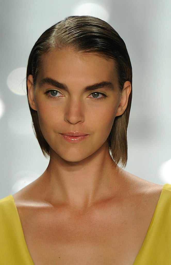 """""""I'm making the brows more powerful, but not bushy,"""" Pecheux said of the look."""