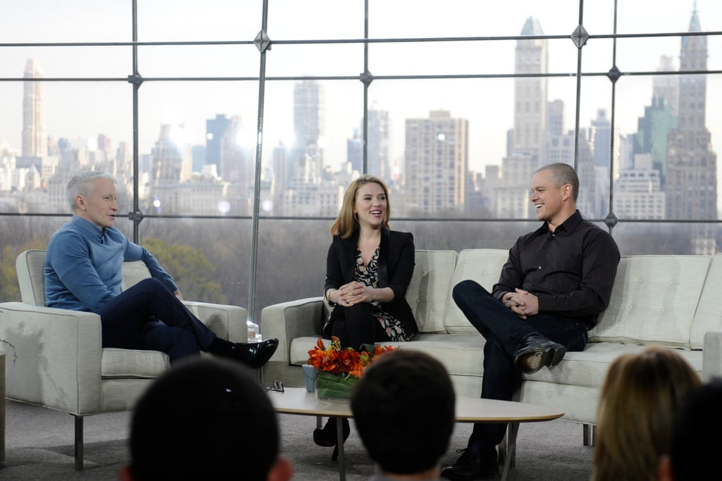 We Bought a Zoo stars Scarlett and Matt sat down to chat with Anderson on his daytime talk show.