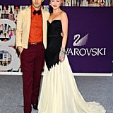 Zac Posen with Devon Aoki in his design