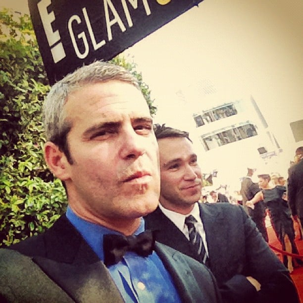Andy Cohen perfected his serious look before posing for photos on the red carpet. Source: Instagram user bravoandy