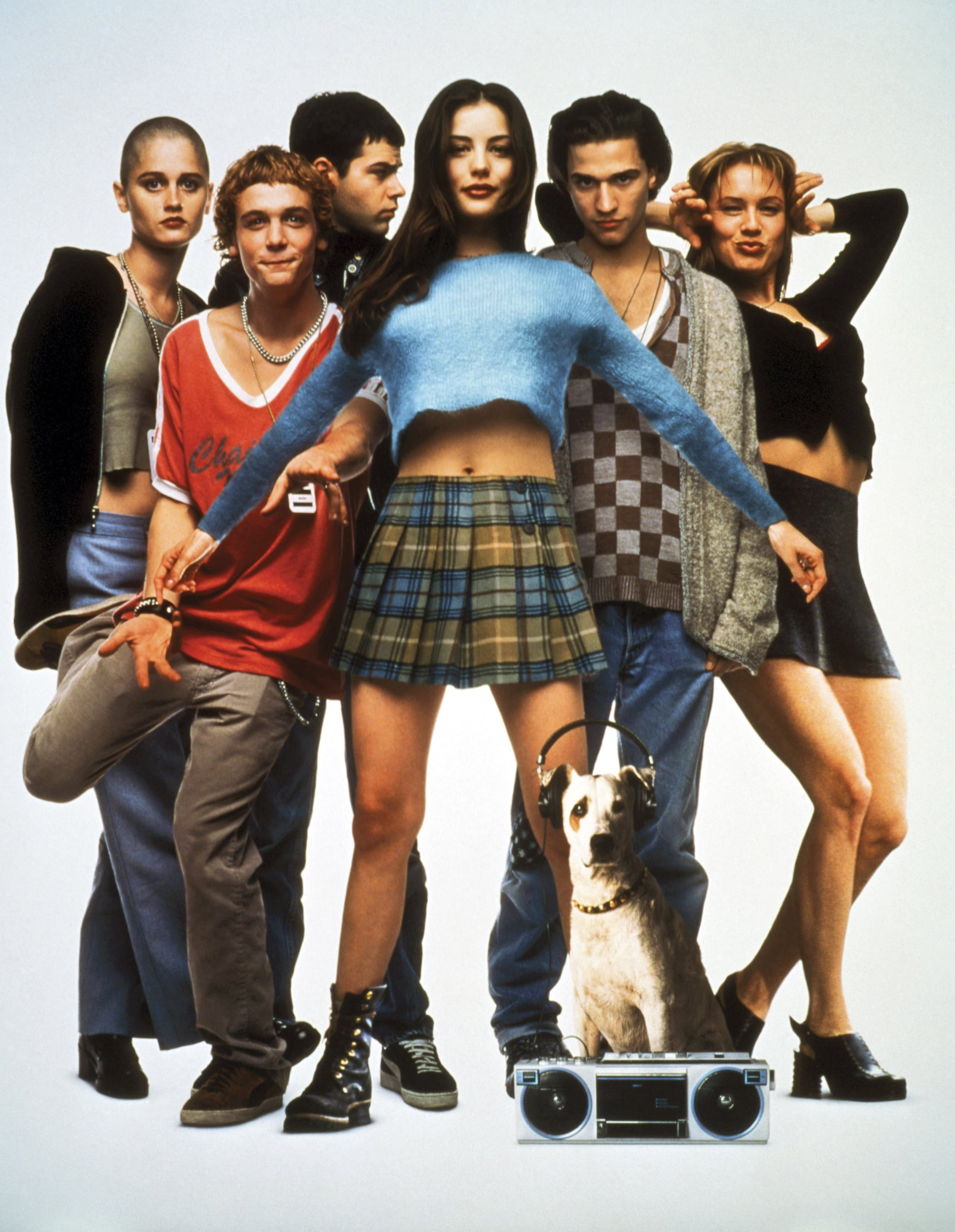 EMPIRE RECORDS, Robin Tunney, Ethan Randall, Rory Cochrane, Liv Tyler, Johnny Whitworth, Renee Zellweger, 1995, (c) Warner Brothers/courtesy Everett Collection