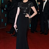 Anne Hathaway Goes British in Burberry For BAFTA Awards