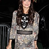 Katie Holmes stepped out to celebrate the Dead Accounts opening in NYC.