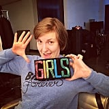 Lena Dunham got a special gift from designer Charlotte Olympia, which will likely rival this clutch on the red carpet. Source: Instagram user lenadunham