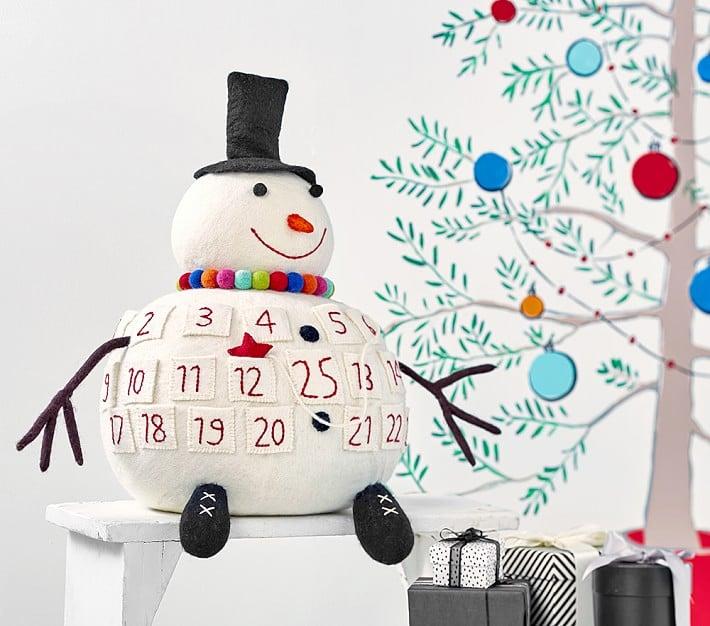 3d Merry And Bright Snowman Advent Calendar Advent