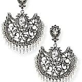 Jose & Maria Barrera Beaded Scroll Fan Chandelier Earrings ($415)