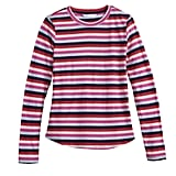 Printed Long Sleeve Tee in Red/Blue Rollerway Stripe