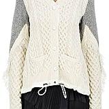 Sacai Cable-Knit Wool Swing Cardigan