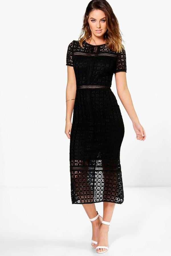 boohoo Boutique Odette Crochet Midi Dress