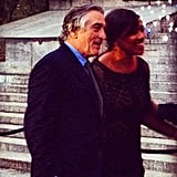 Tribeca Film Festival's founder and greatest supporter Robert De Niro said hello to fellow partygoers with his wife Grace.