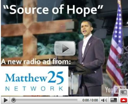 Christian PAC: Faith Is Obama's Source of Hope