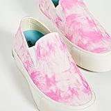 SeaVees Baja Platform Tie-Dye Slip-On Sneakers