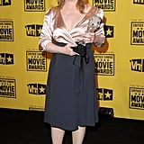 Meryl wore a two-toned satin dress to the 2010 Critics' Choice Movie Awards.