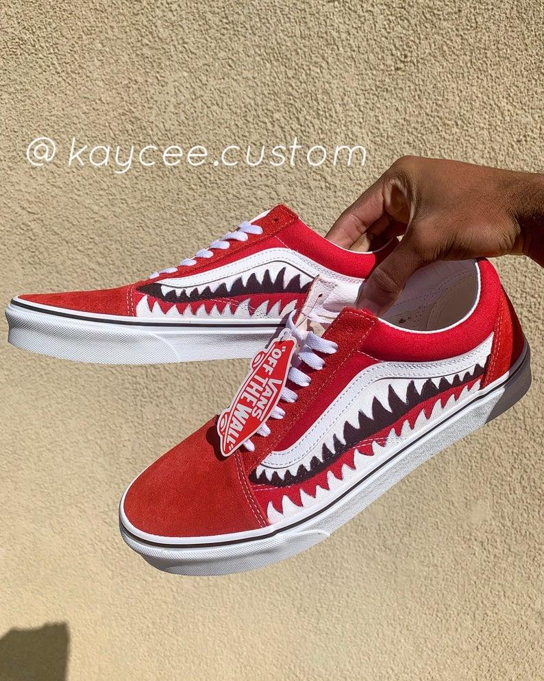 BAPE-y Shark Vans