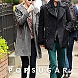 Emma Stone and Andrew Garfield held hands after having lunch in their NYC neighborhood.