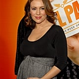 Alyssa Milano Debuts Her Baby Bump With New Dad Owen Wilson and Mom Christina Applegate at the Hall Pass Premiere