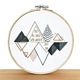 DIY Embroidery Kit: Wanderlust