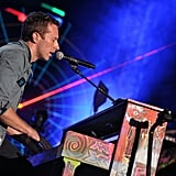 Chris Martin took to the piano during the show.