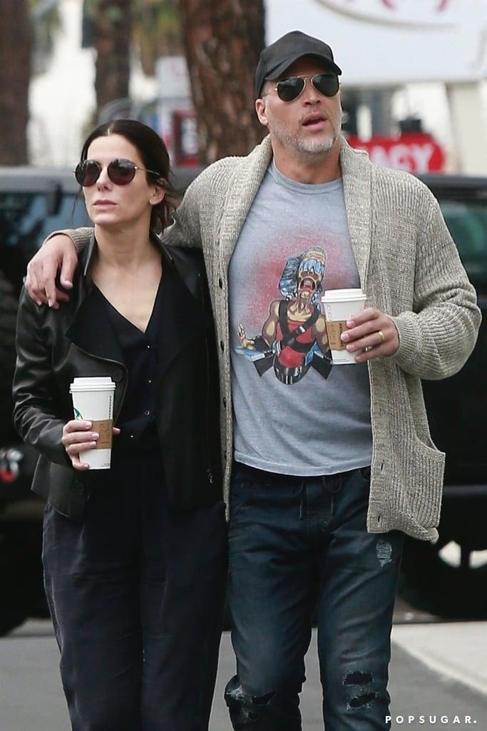 Sandra Bullock S Boyfriend Bryan Randall Wearing Gold Band