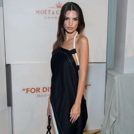 Emily Ratajkowski Dress With White Pants
