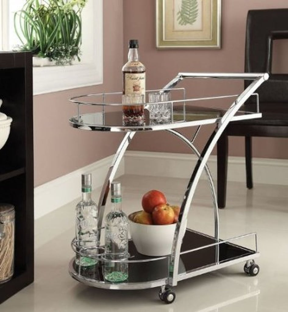 eHomeProducts Chrome Bar Serving Cart