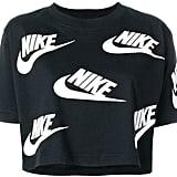 Nike Logo Print Cropped T-Shirt
