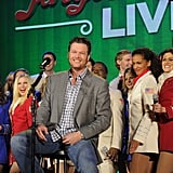 Blake Shelton had a surprise holiday concert in NYC, playing hits from Cheers, It's Christmas, his album released in 2012.