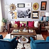 The finds: many of the fun accessories in this room were found at HomeGoods.