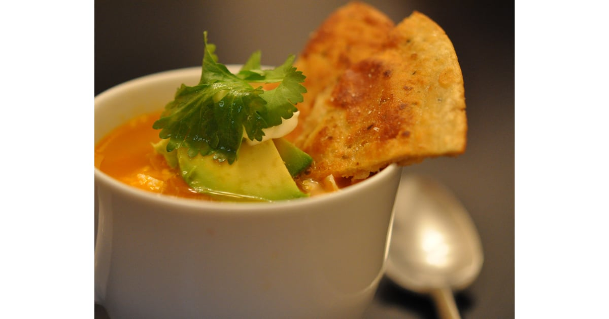Tyler Florences Spicy Chicken Tortilla Soup Recipe Popsugar Food