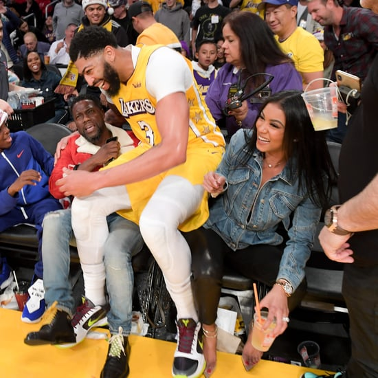 Watch Anthony Davis Fall on Kevin Hart at Lakers Game